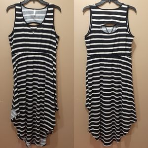 Striped asymmetrical xhilaration dress